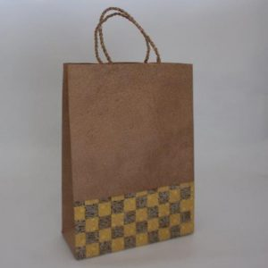 Weave Pattern Shopping Bag