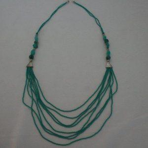 White Metal Beads Necklace (Set)