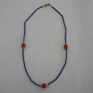 White Metal Beads Mala