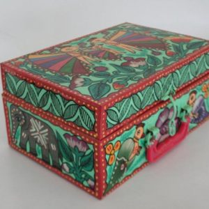 Mithila Painting Tin Box