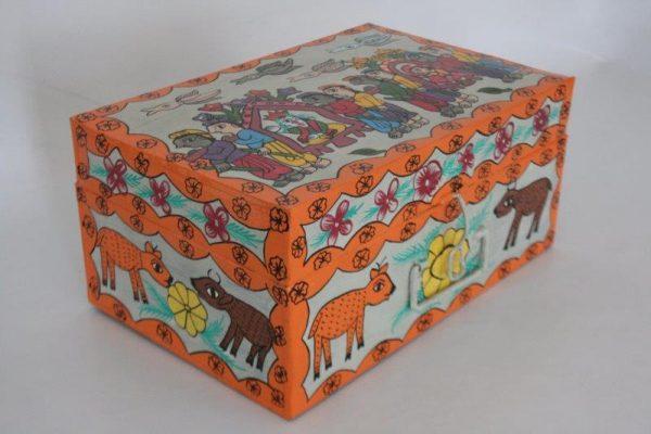 Mithila Painting Tin Box