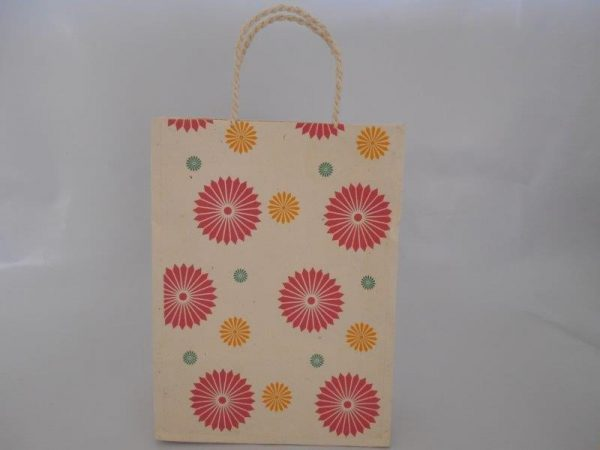 Three Color Flower Range Shopping Bag