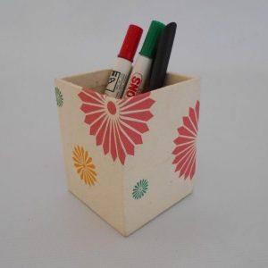 Three Color Flower Range Pencil Holder