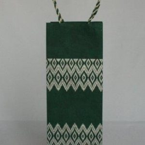 Dhaka Boarder Printed Wine Bag