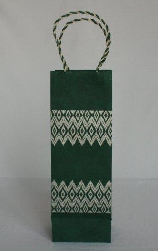 Dhaka Boarder Printed Wine Bag