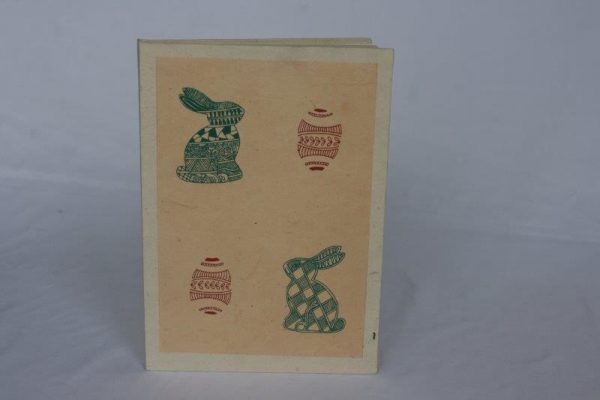 Easter Egg and Rabbit Notebook