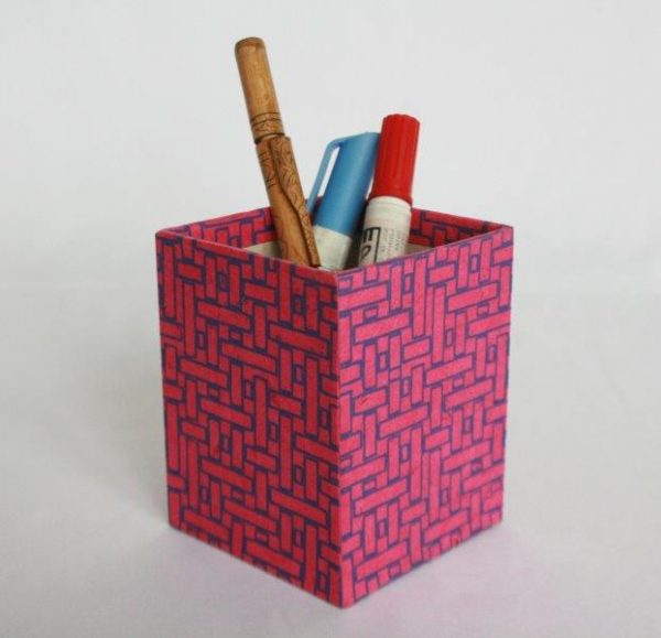 Dhukuti Printed Pencil Holder