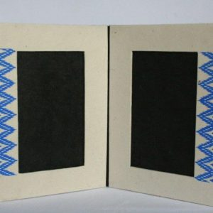Dhaka Boarder Printed Double Photo Frame