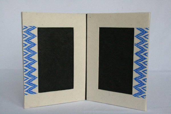 Dhaka Boarder Printed Double Photo Frame