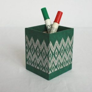 Dhaka Boarder Printed Pencil Holder