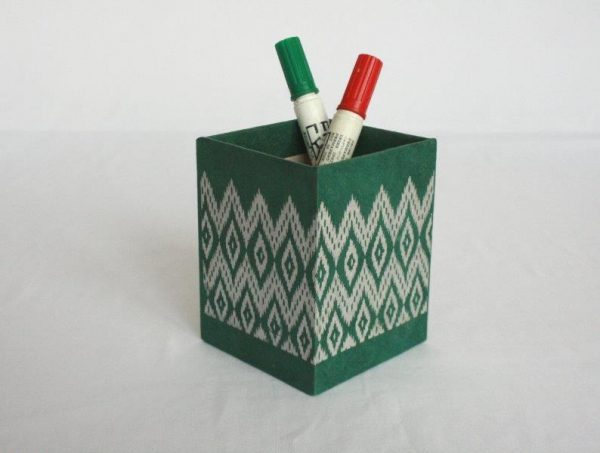 Dhaka Boarder Printed Pencil Holder