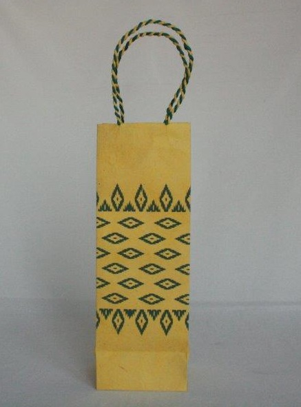 Dhaka All Over Printed Wine Bag