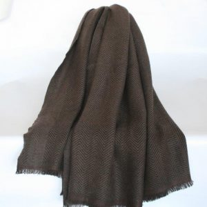 100% Wool Herring Bone Blanket/ Shawl