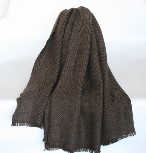 100% Wool Herring Bone Blanket/ Shawl