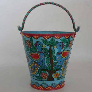 Mithila Painting Bucket
