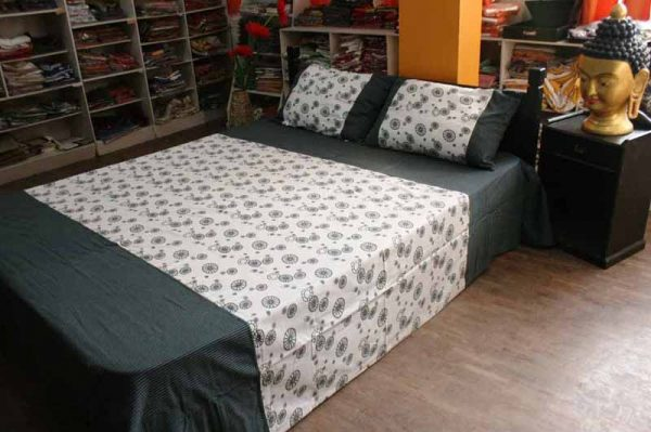 Cotton Bed Sheet with 2 Pillow Case