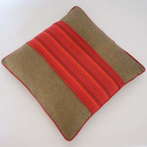 "Cushion Cover Olive Green 16""x16"""