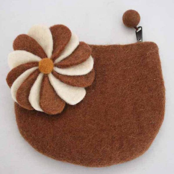 Felt Moon with 12 Flower Purse