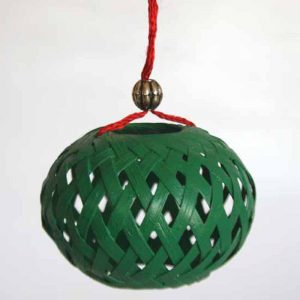 Christmas Wooden Painting Hanging Ball