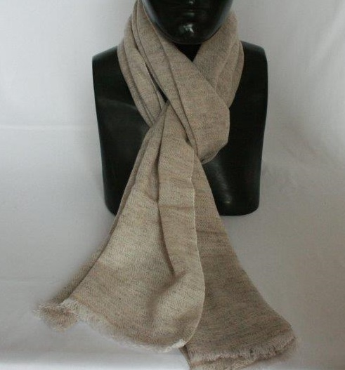 Woolen Jacquard Half Shawl