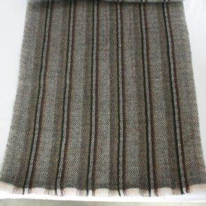 Woolen Stripe Half Shawl