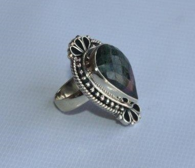 White Metal Akura with Stone Ring